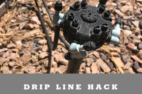 Drip line irrigation hack