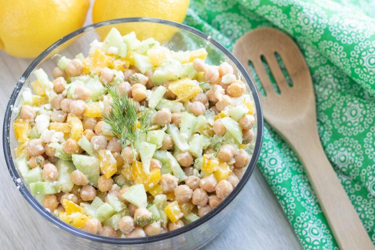 Cucumber & Chickpea Salad