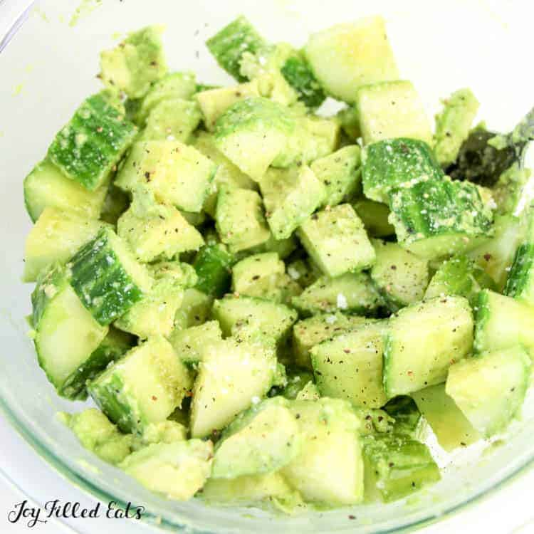 This Cucumber & Avocado recipe would be delicious with Armenian Cucumbers