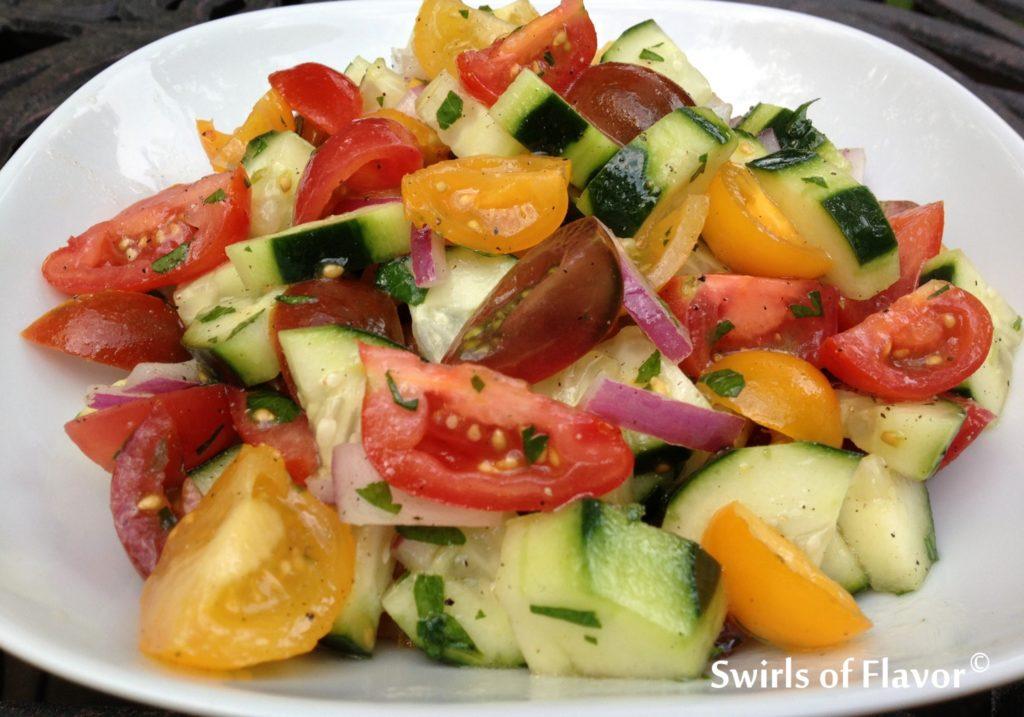 Tomato & Cucumber Summer Salad Recipe