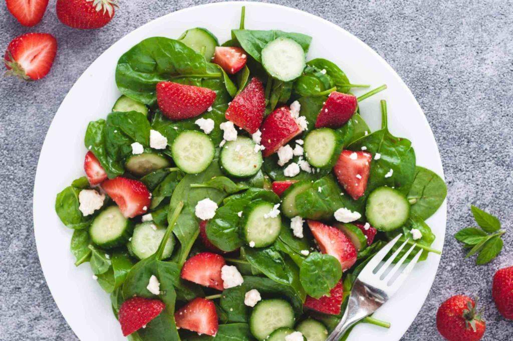 Cucumber Strawberry Salad