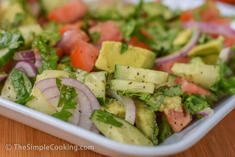 Add Armenian cucumbers to this avocado summer salad