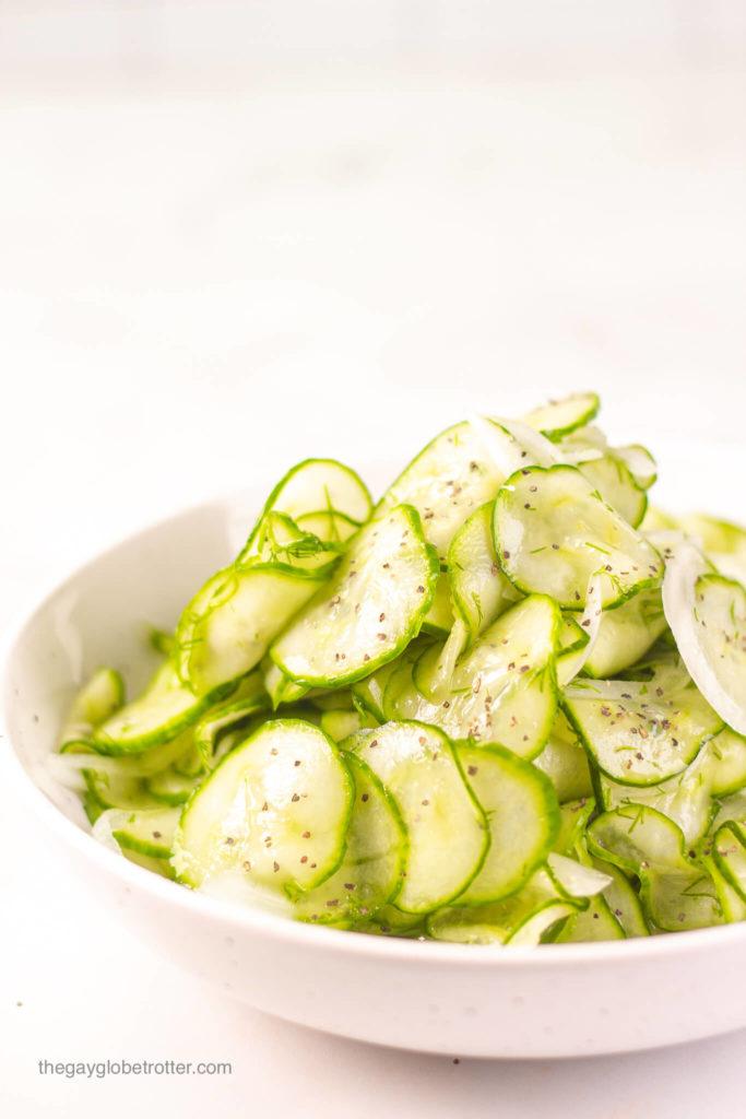 Cucumber Vinegar Salad Recipe