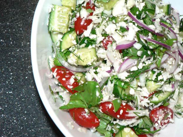 Easy cucumber tomato salad