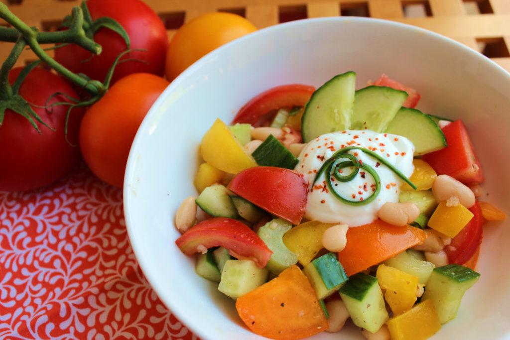Summer Gazpacho and Bean Salad