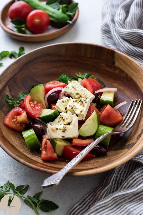 HORIATIKI cucumber salad.  Try it with Armenian Cucumber