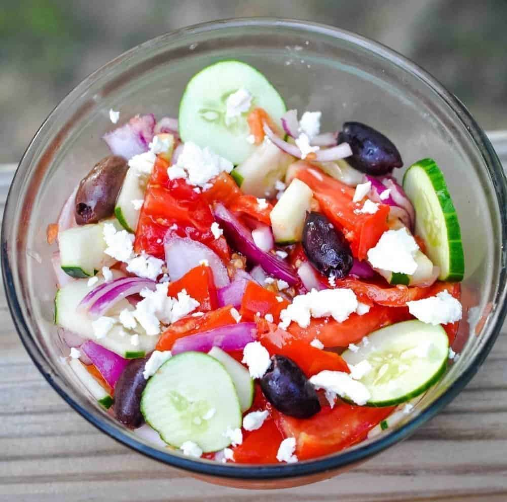 Use your garden fresh Armenian Cucumbers in this tasty cucumber & onion salad recipe