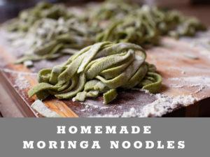 Homemade Moringa Noodles