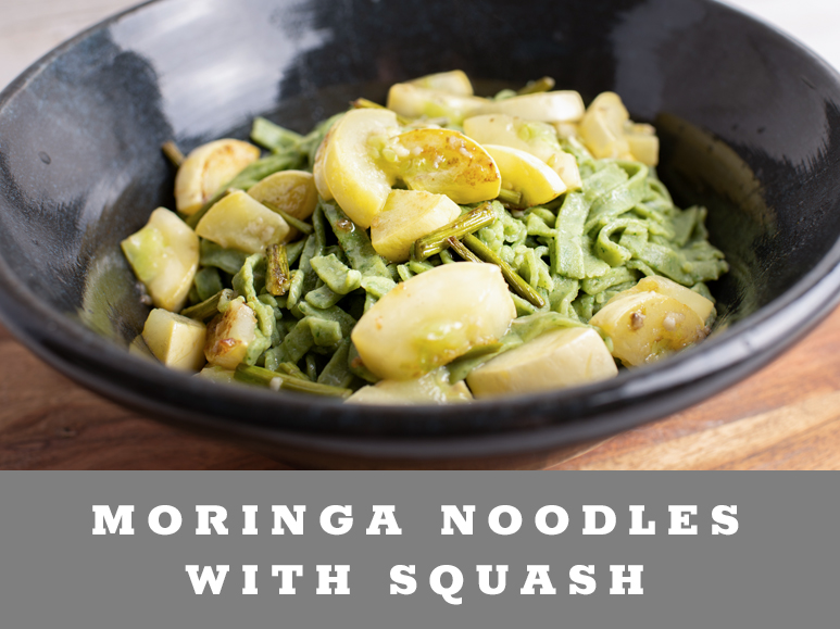 Moringa Noodles with Squash
