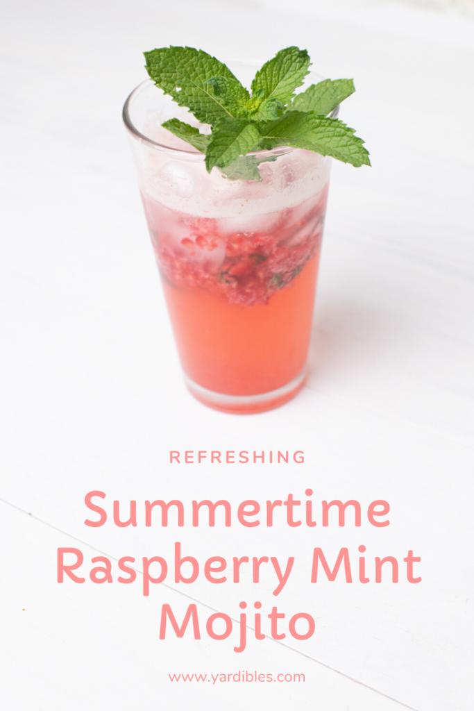 Refreshing Summertime Raspberry Mint Mojito