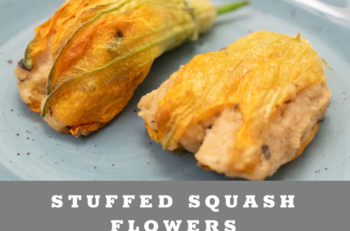 Baked Vegetarian Stuffed Squash Flowers