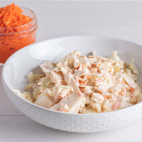 Easy Homemade Coleslaw Recipe with fermented carrots